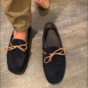 H&M Men's Suede Driving Shoes 9.5 Navy